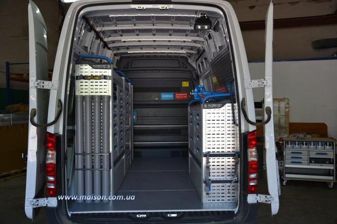алюмінієвий стелаж для сервісного автомобіля СТО